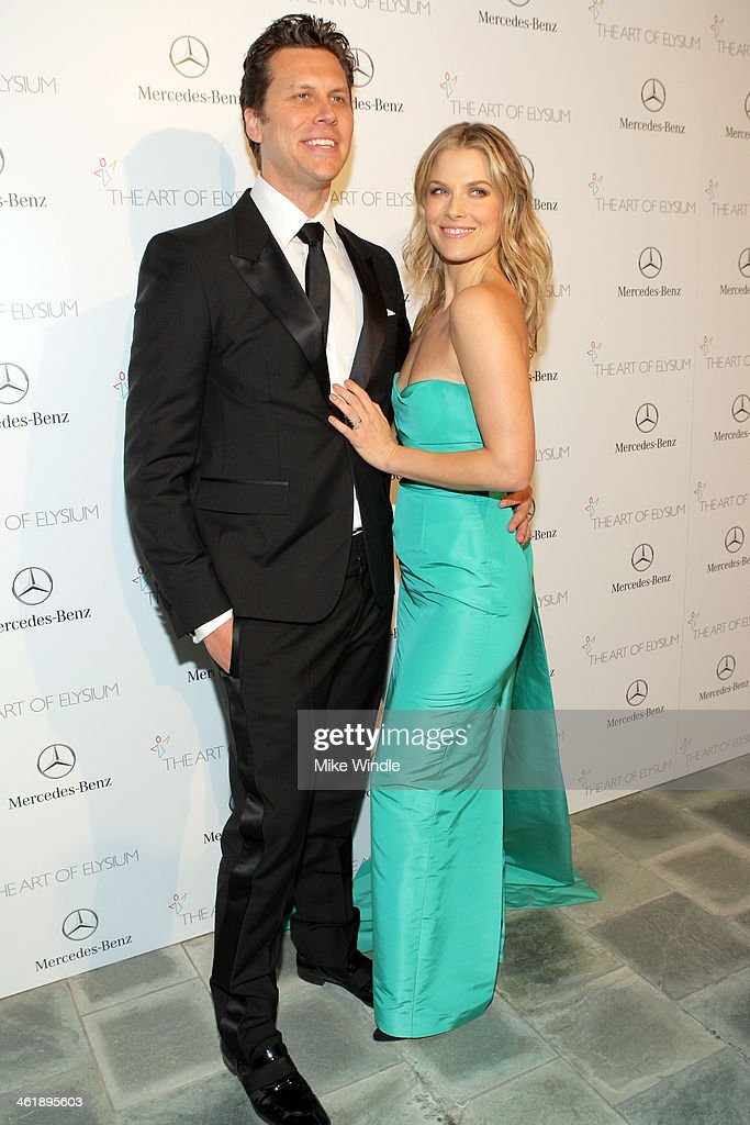Honorees Hayes MacArthur and Ali Larter attend The Art of Elysium's 7th Annual HEAVEN Gala presented by MercedesBenz at Skirball Cultural Center on...