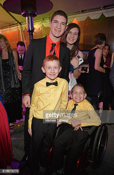 Honorees Hunter Gandee and Braden Gandee and family attend Shane's Inspiration's 15th Annual Gala at The Globe Theatre on March 5 2016 in Universal...