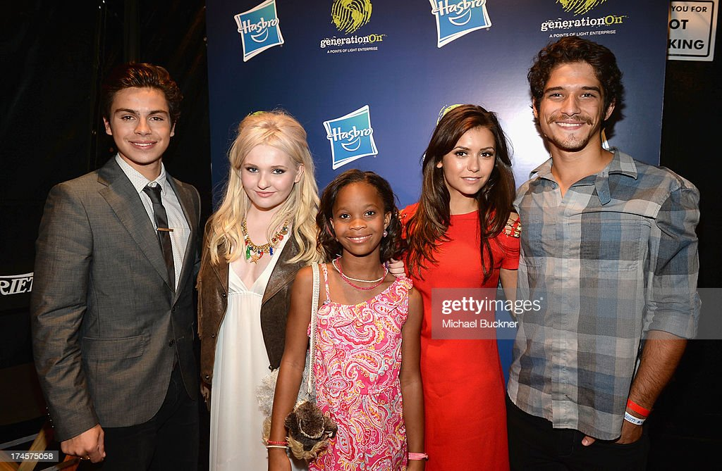 Honorees Jake T Austin Abigail Breslin Quvenzhane Wallis Nina Dobrev and Tyler Posey attend Variety's Power of Youth presented by Hasbro Inc and...