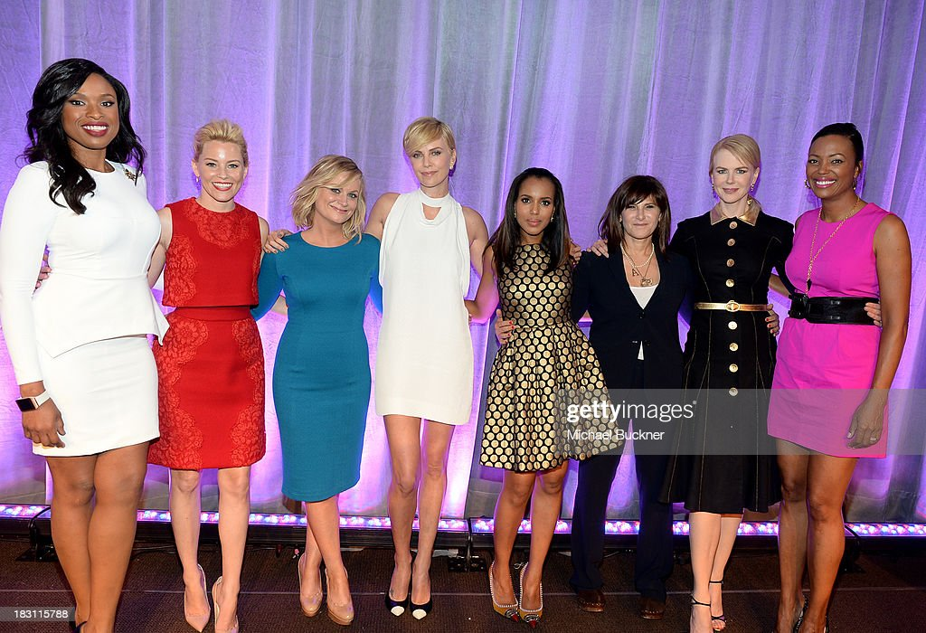 Honorees <a gi-track='captionPersonalityLinkClicked' href=/galleries/search?phrase=Jennifer+Hudson&family=editorial&specificpeople=234833 ng-click='$event.stopPropagation()'>Jennifer Hudson</a>, <a gi-track='captionPersonalityLinkClicked' href=/galleries/search?phrase=Elizabeth+Banks&family=editorial&specificpeople=202475 ng-click='$event.stopPropagation()'>Elizabeth Banks</a>, <a gi-track='captionPersonalityLinkClicked' href=/galleries/search?phrase=Amy+Poehler&family=editorial&specificpeople=228430 ng-click='$event.stopPropagation()'>Amy Poehler</a>, <a gi-track='captionPersonalityLinkClicked' href=/galleries/search?phrase=Charlize+Theron&family=editorial&specificpeople=171250 ng-click='$event.stopPropagation()'>Charlize Theron</a>, <a gi-track='captionPersonalityLinkClicked' href=/galleries/search?phrase=Kerry+Washington&family=editorial&specificpeople=201534 ng-click='$event.stopPropagation()'>Kerry Washington</a>, <a gi-track='captionPersonalityLinkClicked' href=/galleries/search?phrase=Amy+Pascal&family=editorial&specificpeople=207083 ng-click='$event.stopPropagation()'>Amy Pascal</a>, <a gi-track='captionPersonalityLinkClicked' href=/galleries/search?phrase=Nicole+Kidman&family=editorial&specificpeople=156404 ng-click='$event.stopPropagation()'>Nicole Kidman</a> and <a gi-track='captionPersonalityLinkClicked' href=/galleries/search?phrase=Aisha+Tyler&family=editorial&specificpeople=202262 ng-click='$event.stopPropagation()'>Aisha Tyler</a> pose onstage at Variety's 5th Annual Power of Women event presented by Lifetime at the Beverly Wilshire Four Seasons Hotel on October 4, 2013 in Beverly Hills, California.