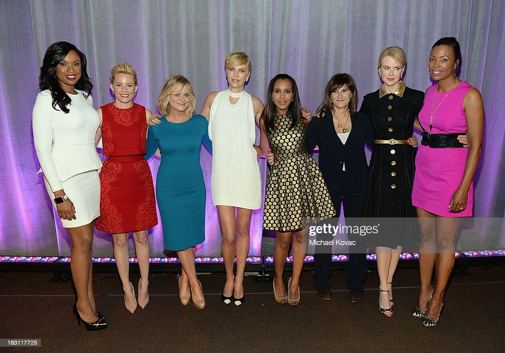 Honorees Jennifer Hudson, Elizabeth Banks, Amy Poehler, Charlize Theron, Kerry Washington, Amy Pascal, Nicole Kidman and Aisha Tyler attend Variety's 5th Annual Power of Women event presented by Lifetime at the Beverly Wilshire Four Seasons Hotel on October 4, 2013 in Beverly Hills, California.