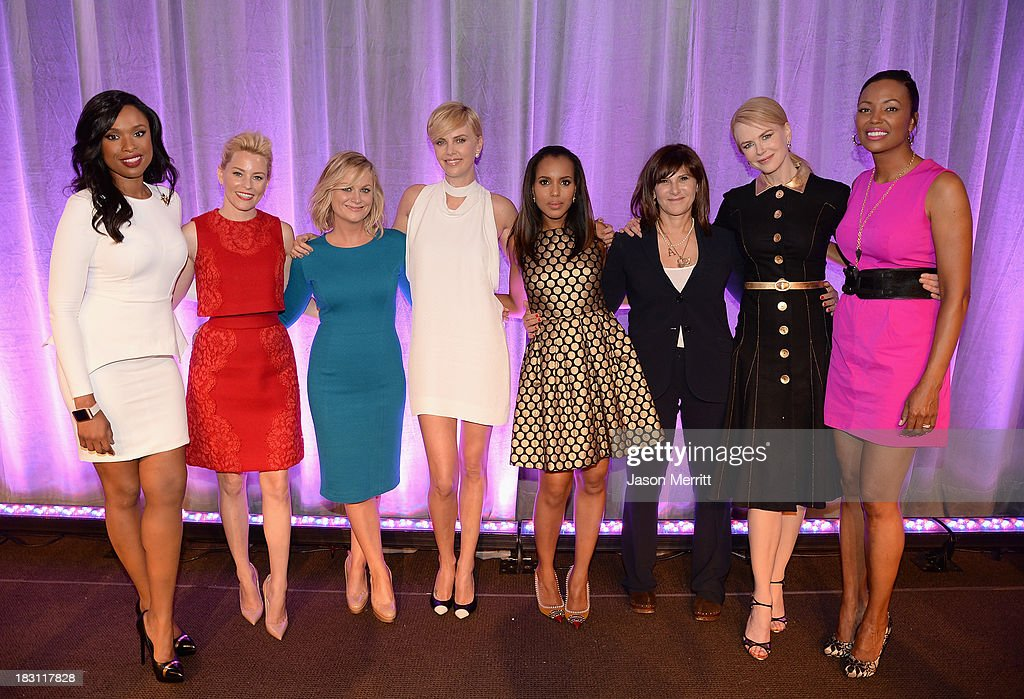 Honorees Jennifer Hudson, Elizabeth Banks, Amy Poehler, Charlize Theron, Kerry Washington, Amy Pascal, Nicole Kidman and Aisha Tyler during Variety's 5th Annual Power of Women event presented by Lifetime at the Beverly Wilshire Four Seasons Hotel on October 4, 2013 in Beverly Hills, California.