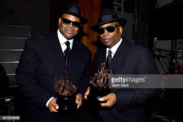 Honorees Jimmy Jam Terry Lewis pose backstage during the NMAAM 2016 Black Music Honors on August 18 2016 in Nashville Tennessee