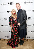 Honorees Julia Michaels and Justin Tranter arrive at the First Annual 'Girls To The Front' event benefiting Girls Rock Camp Foundation at Chateau...