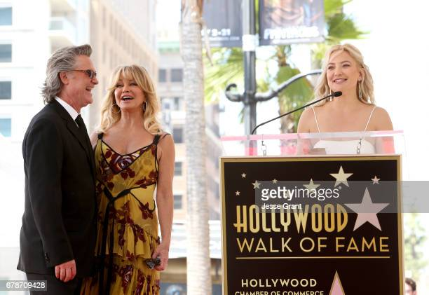 Honorees Kurt Russell Goldie Hawn and actor Kate Hudson at Goldie Hawn and Kurt Russell are honored with a Star On the Hollywood Walk of Fame on May...