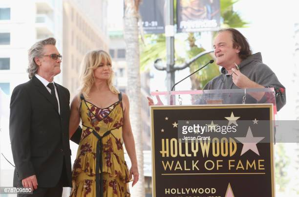 Honorees Kurt Russell Goldie Hawn and Director Quentin Tarantino at Goldie Hawn and Kurt Russell are honored with a Star On the Hollywood Walk of...