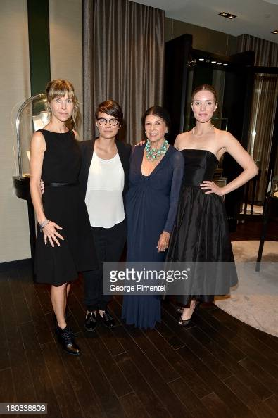 Honorees Louise Archambault Chloe Robichaud Alanis Obomsawin and Evelyne Brochu attend the Birks Diamond Tribute to the year's Women in Film during...