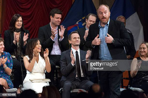 Honorees Mari Jo Winkler Rosie Perez Aaron Shapiro Neil Patrick Harris Steve Buscemi Louis CK and Jane Raab attend the 'Made In NY' Awards Ceremony...