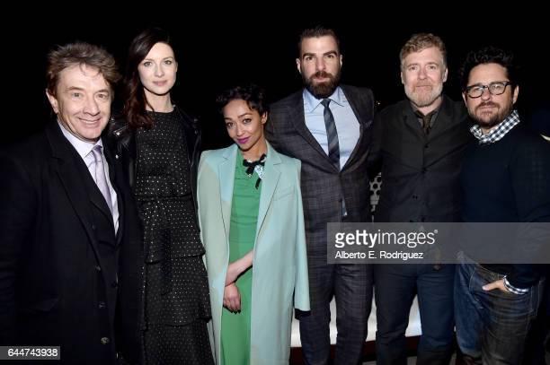 Honorees Martin Short Caitriona Balfe Ruth Negga Zachary Quinto Glen Hansard and director JJ Abrams attend the 12th Annual USIreland Aliiance's Oscar...