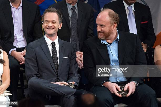 Honorees Neil Patrick Harris and Louis CK attend the 'Made In NY' Awards Ceremony at Weylin B Seymour's on November 10 2014 in Brooklyn New York