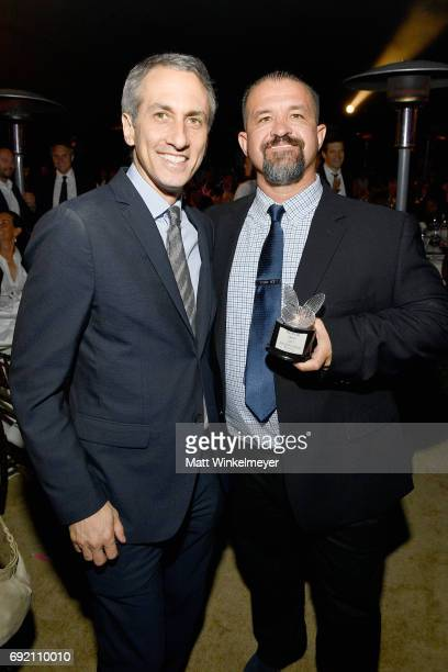 Honorees Peter Cramer and Raymond Davis at the 16th Annual Chrysalis Butterfly Ball on June 3 2017 in Los Angeles California