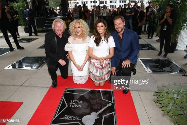 Honorees Philip Sweet Kimberly Schlapman Karen Fairchild and Jimi Westbrook of Little Big Town during the Nashville Music City Walk Of Fame Induction...