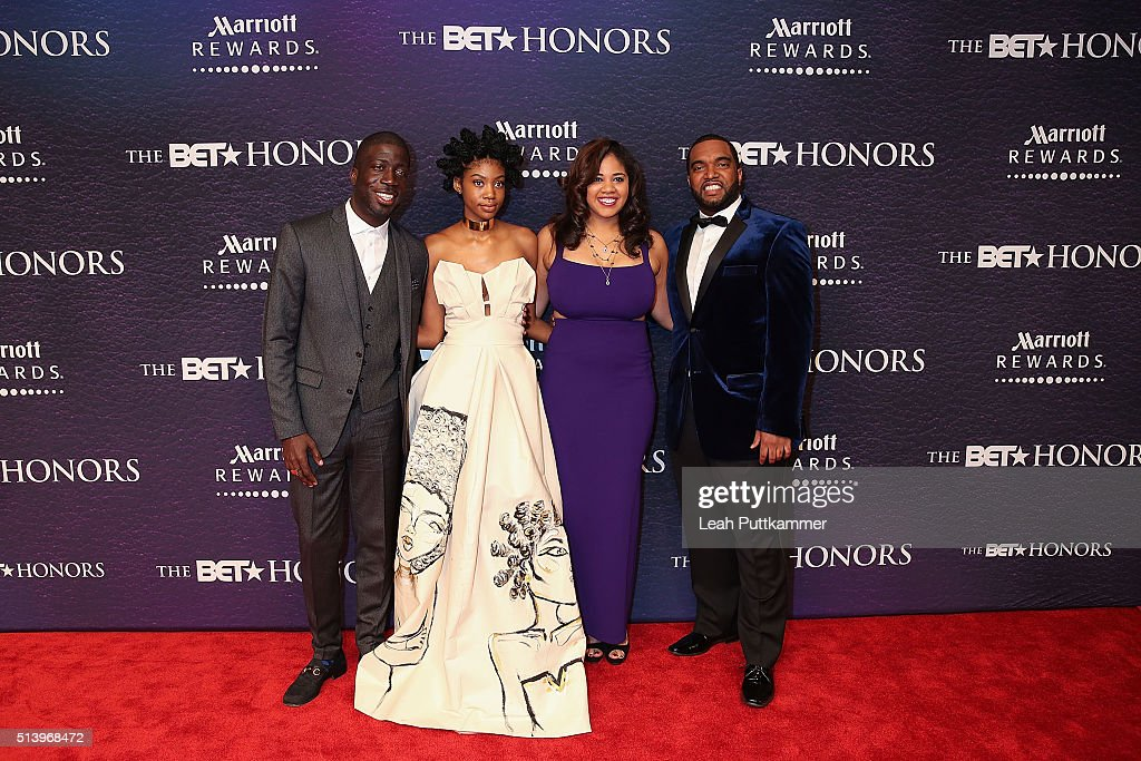 Honorees Rae Holliday Kyemah McEntire Candace V Mitchell and Brandon Frame attend the BET Honors 2016 at Warner Theatre on March 5 2016 in Washington...