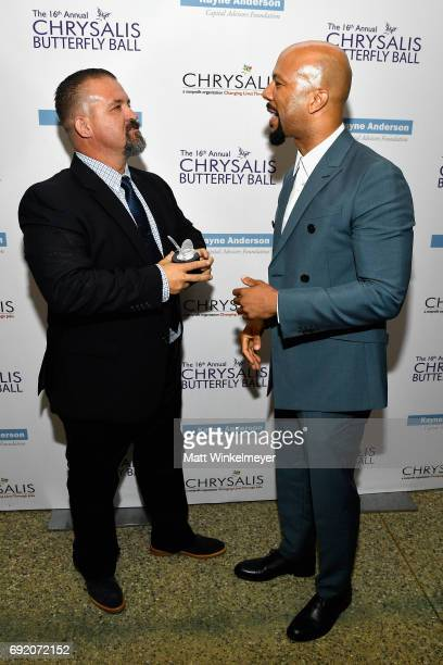 Honorees Raymond Davis and Common at the 16th Annual Chrysalis Butterfly Ball on June 3 2017 in Los Angeles California