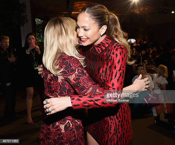Honorees Reese Witherspoon and Jennifer Lopez attend the 2014 Variety Power of Women presented by Lifetime at Beverly Wilshire Four Seasons on...