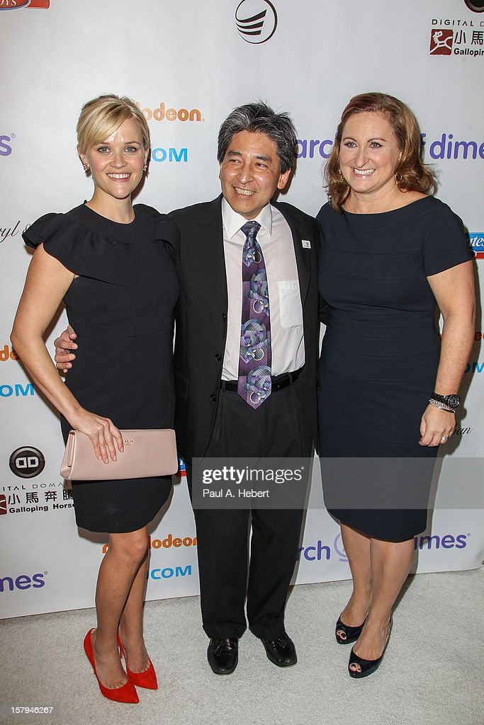 Honorees Reese Witherspoon, Bryan Oshiro, M.D. and Cyma Zarghami arrives at the March Of Dimes' Celebration Of Babies held at the Beverly Hills Hotel on December 7, 2012 in Beverly Hills, California.