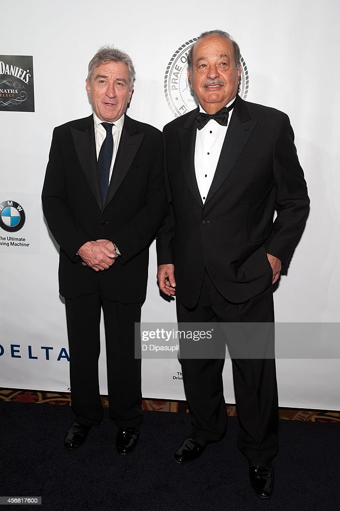 Honorees <a gi-track='captionPersonalityLinkClicked' href=/galleries/search?phrase=Robert+De+Niro&family=editorial&specificpeople=201673 ng-click='$event.stopPropagation()'>Robert De Niro</a> (L) and <a gi-track='captionPersonalityLinkClicked' href=/galleries/search?phrase=Carlos+Slim&family=editorial&specificpeople=584959 ng-click='$event.stopPropagation()'>Carlos Slim</a> attend the Friars Foundation Gala honoring <a gi-track='captionPersonalityLinkClicked' href=/galleries/search?phrase=Robert+De+Niro&family=editorial&specificpeople=201673 ng-click='$event.stopPropagation()'>Robert De Niro</a> and <a gi-track='captionPersonalityLinkClicked' href=/galleries/search?phrase=Carlos+Slim&family=editorial&specificpeople=584959 ng-click='$event.stopPropagation()'>Carlos Slim</a> at The Waldorf=Astoria on October 7, 2014 in New York City.
