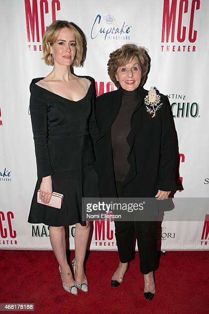 Honorees Sarah Paulson and Fran Weissler at Hammerstein Ballroom on March 30 2015 in New York City