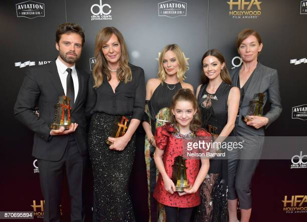 Honorees Sebastian Stan Allison Janney Margot Robbie Mckenna Grace Caitlin Carver and Julianne Nicholson recipients of the Hollywood Ensemble Award...