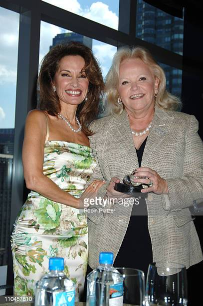 Honorees Susan Lucci and Jane Pontarelli during The Rose Luncheon Benefitting Little Flower Children and Family Services of New York Honoring Susan...