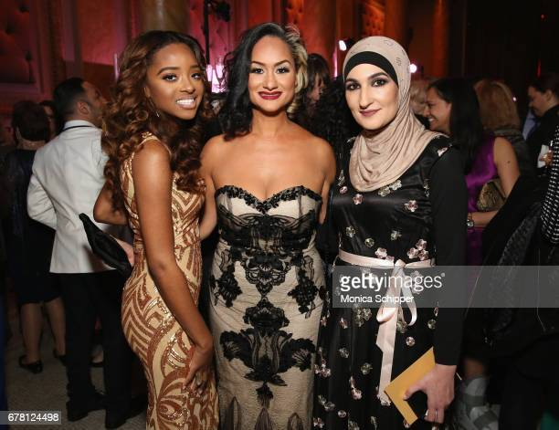 Honorees Tamika D Mallory Carmen Perez and Linda Sarsour attend the Ms Foundation for Women 2017 Gloria Awards Gala After Party at Capitale on May 3...