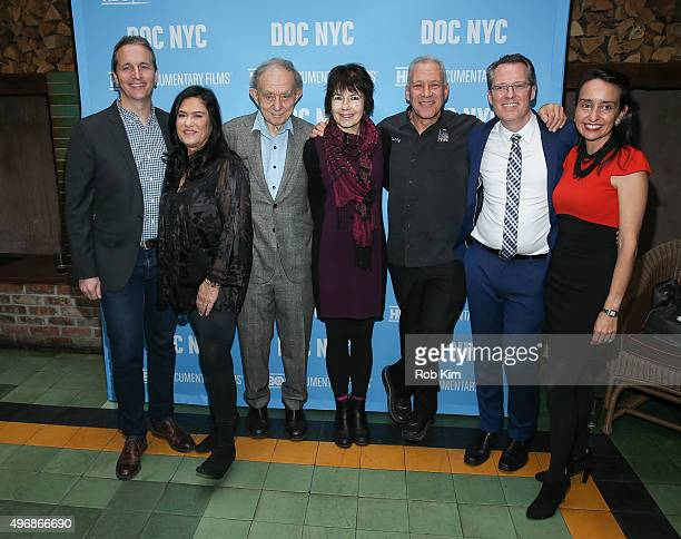 Honorees Tom Quinn Barbara Kopple Frederick Wiseman Kim Longinotto Jon Alpert with Thom Powers and Raphaela Neihausen of DOC NYC attend 2015 DOC NYC...