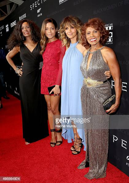 Honorees Trina Parks Naomie Harris Halle Berry and Gloria Hendry attend the Black Women of Bond Tribute at the California African American Museum on...