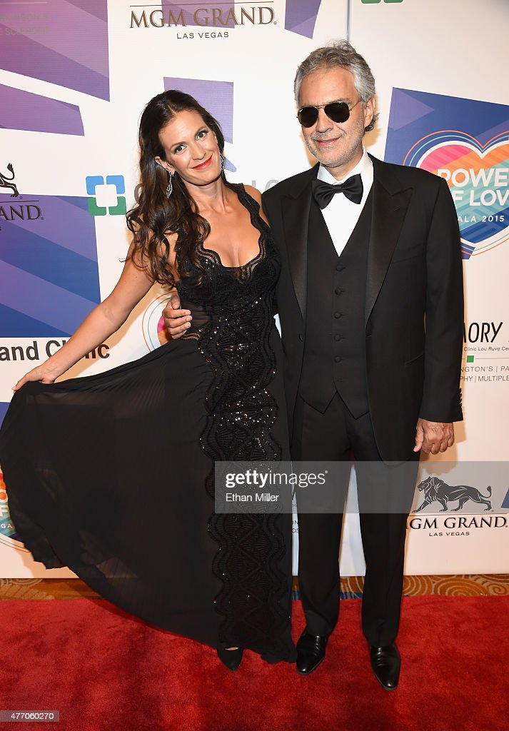 Honorees Veronica Bocelli (L) and Andrea Bocelli attend the 19th annual Keep Memory Alive 'Power of Love Gala' benefit for the Cleveland Clinic Lou Ruvo Center for Brain Health honoring Andrea Bocelli and Veronica Bocelli at MGM Grand Garden Arena on June 13, 2015 in Las Vegas, Nevada.