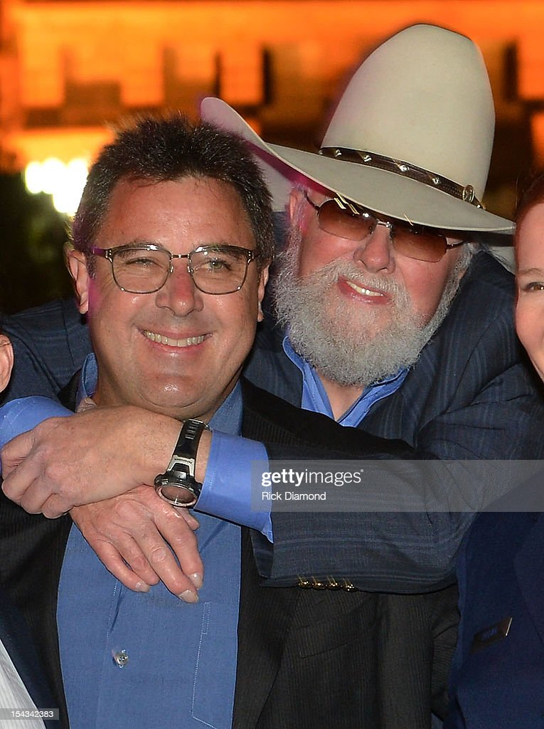 Honorees Vince Gill and Charlie Daniels attends the 2012 Leadership Music Dale Franklin awards at War Memorial Auditorium on October 17 2012 in...