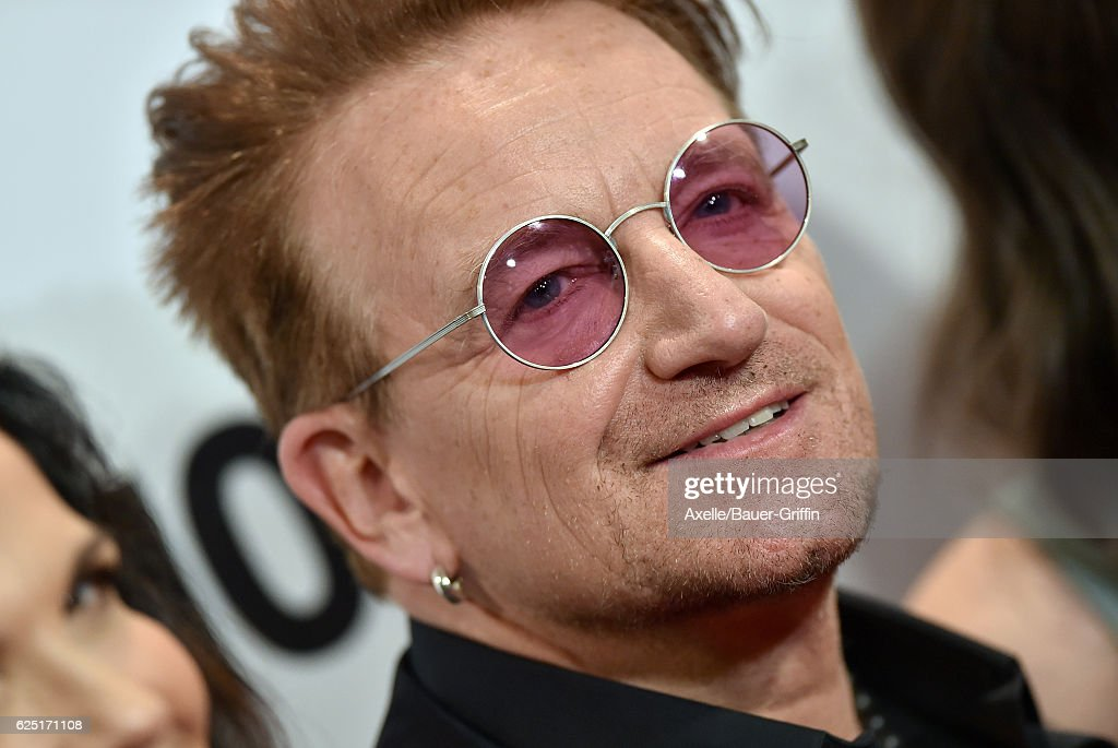 Honoree/singer Bono arrives at Glamour Women of the Year 2016 at NeueHouse Hollywood on November 14, 2016 in Los Angeles, California.