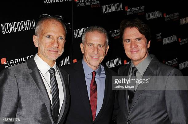 Honorees/producers John DeLuca Marc Platt and Rob Marshall attend the 8th Annual Hamilton Behind The Camera Awards at The Wilshire Ebell Theatre on...