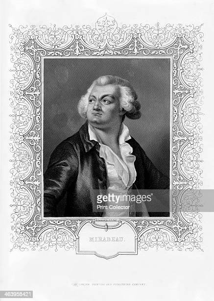HonoreGabriel de Riquetti comte de Mirabeau French writer popular orator and statesman 19th century Portrait of Riquetti