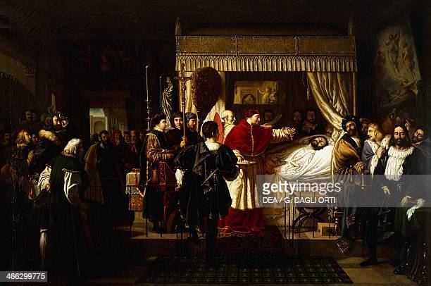Honors paid to Raphael after his death painting by PierreNolasque Bergeret oil on canvas