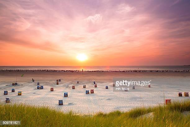 hooded Beachchair at sunset