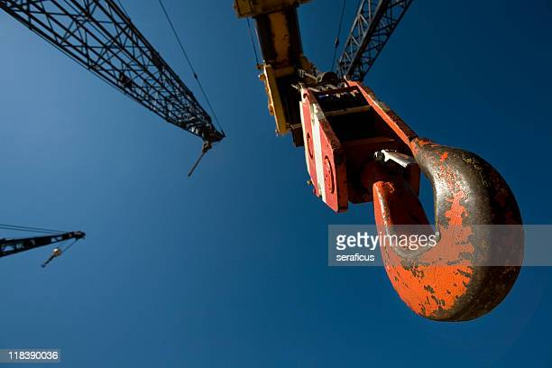 Hook of a building crane