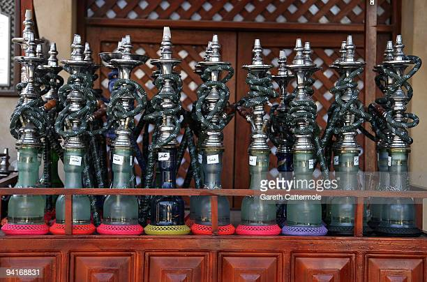 Hookah smoking water pipes seen during day one of the 6th Annual Dubai International Film Festival held at the Madinat Jumeriah Complex on December 9...