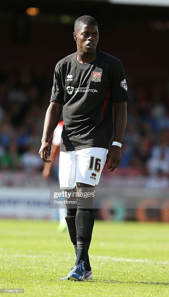 JJ Hooper of Northampton Town in action during the Sky Bet League Two match between York City and Northampton Town at Bootham Crescent on August 3, 2013 in York, England.