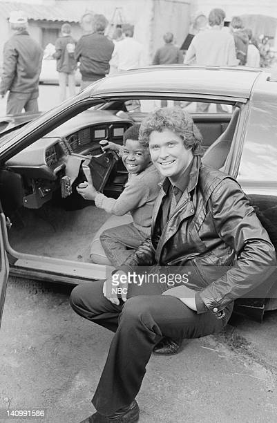 RENT STROKES 'Hooray for Hollywood Part 1 2' Episodes 16 17 Aired Pictured Gary Coleman as Arnold Jackson David Hasselhoff as Michael Knight Photo by...