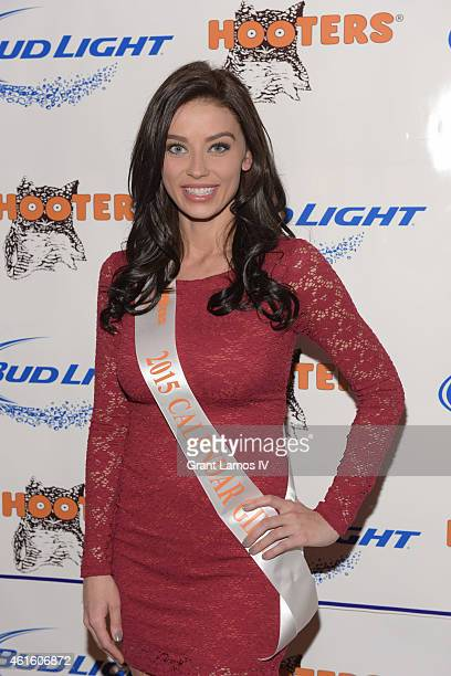Hooters Calendar girl Nicole Ciglar attends Hooters Manhattan VIP Press Party at Hooters Manhattan on January 15 2015 in New York City
