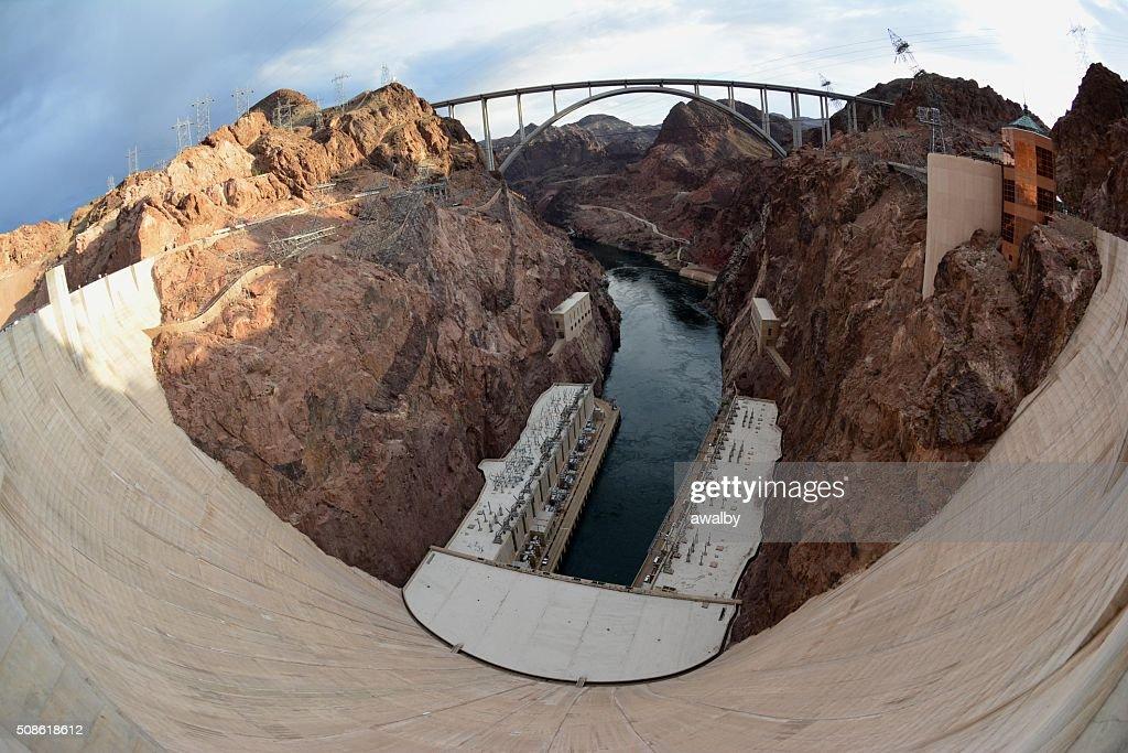 Hoover Dam Fisheye : Stock Photo
