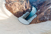 Hoover dam at Henderson Nevada near the city of Las Vegas, United States.