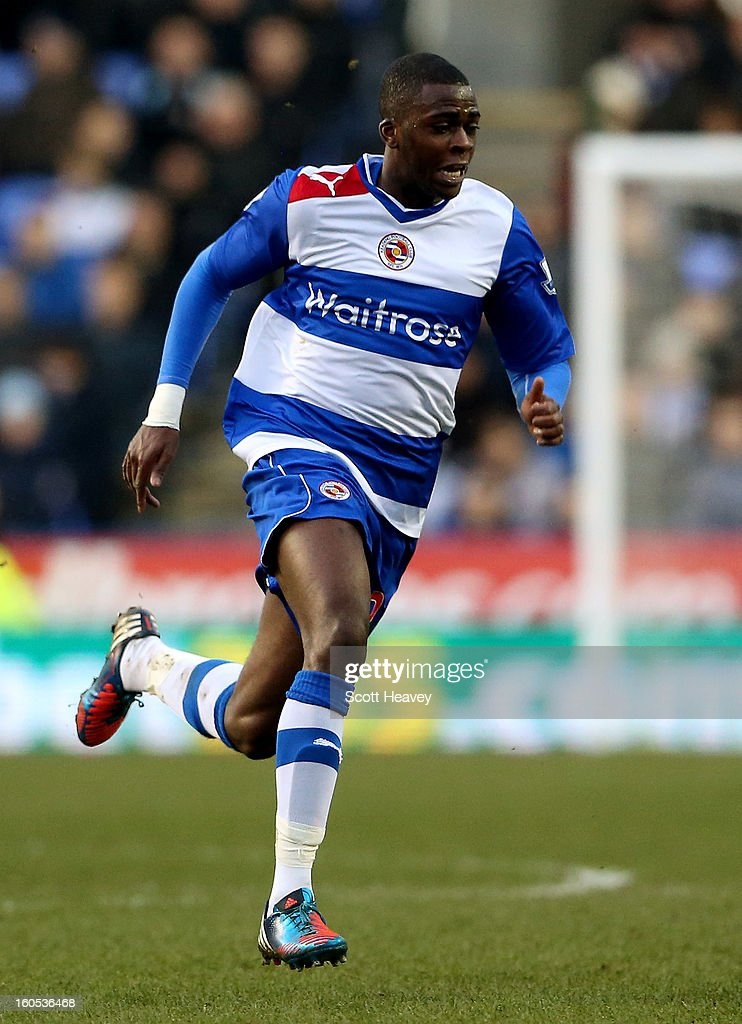 Hope Akpan of Reading during the Barclays Premier League match between Reading and Sunderland at Madejski Stadium on February 2, 2013 in Reading, England.