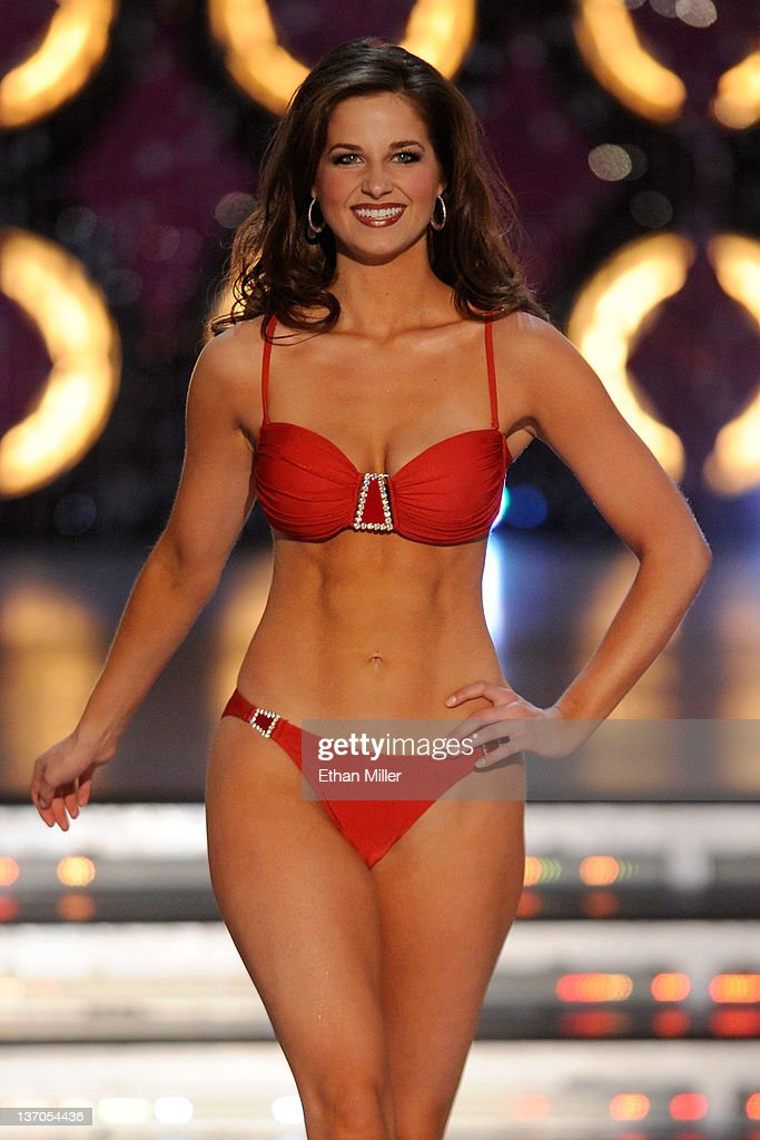Hope Anderson, Miss Louisiana, competes in the swimsuit competition during the 2012 Miss America Pageant at the Planet Hollywood Resort & Casino January 14, 2012 in Las Vegas, Nevada.