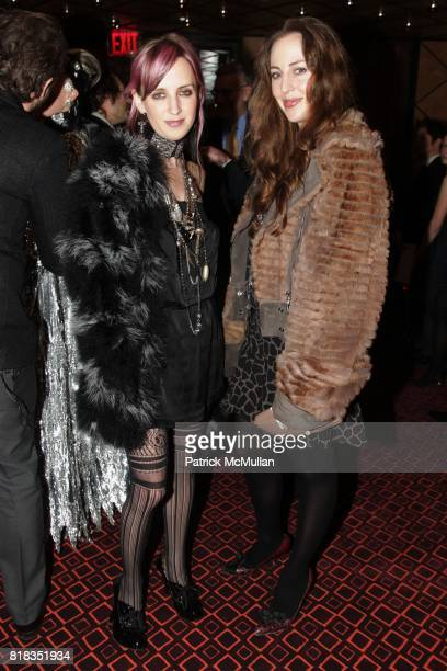 Hope Atherton and Lily Atherton Hanbury attend CHANEL DINNER IN HONOR OF VANESSA PARADIS FOR ROUGE COCO at the Mark Hotel on February 9 2010 in New...