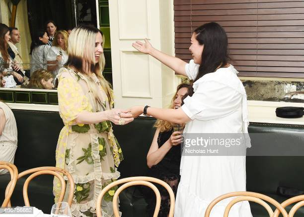 Hope Atherton and Simone Rocha attend the Saks Fifth Avenue and Simone Rocha dinner to Celebrate the Exclusive Capsule Collection at The Beatrice Inn...