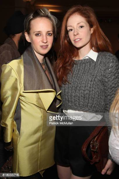 Hope Atherton and Stephanie LaCava attend ELISE OVERLAND Spring 2011 Fashion Show at 475 10th Ave on September 12 2010 in New York City