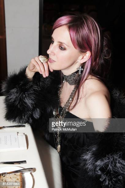Hope Atherton attends CHANEL DINNER IN HONOR OF VANESSA PARADIS FOR ROUGE COCO at the Mark Hotel on February 9 2010 in New York City