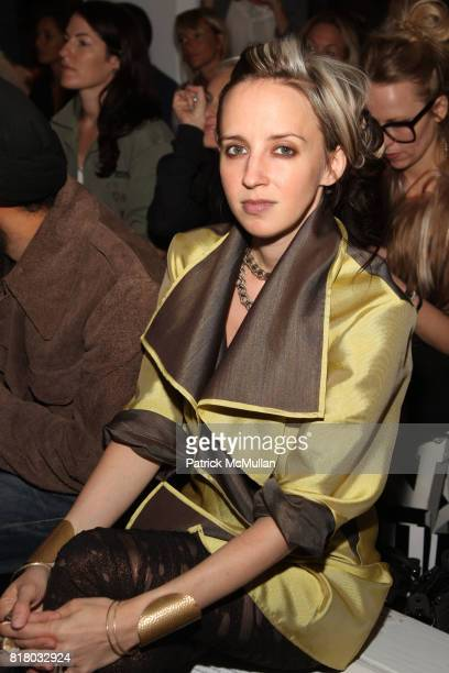 Hope Atherton attends ELISE OVERLAND Spring 2011 Fashion Show at 475 10th Ave on September 12 2010 in New York City
