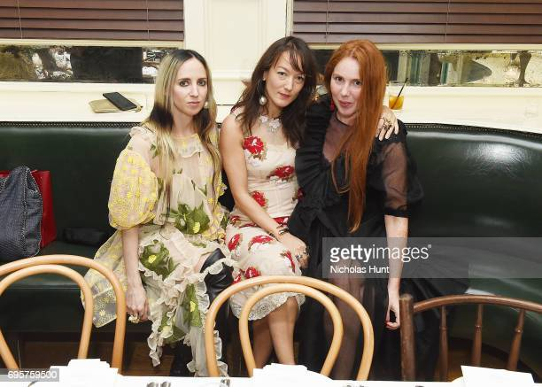 Hope Atherton Beth Fenton and Claireban Coffey attend the Saks Fifth Avenue and Simone Rocha dinner to Celebrate the Exclusive Capsule Collection at...