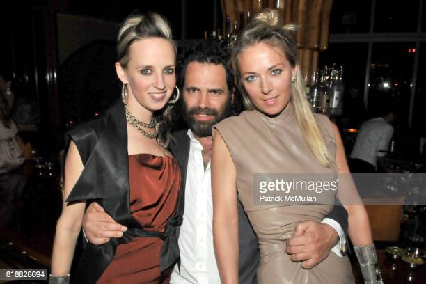 Hope Atherton Gavin Brown and Elise Overland attend ART PRODUCTION FUND Birthday Benefit at On Top of the Standard on April 12 2010 in New York City